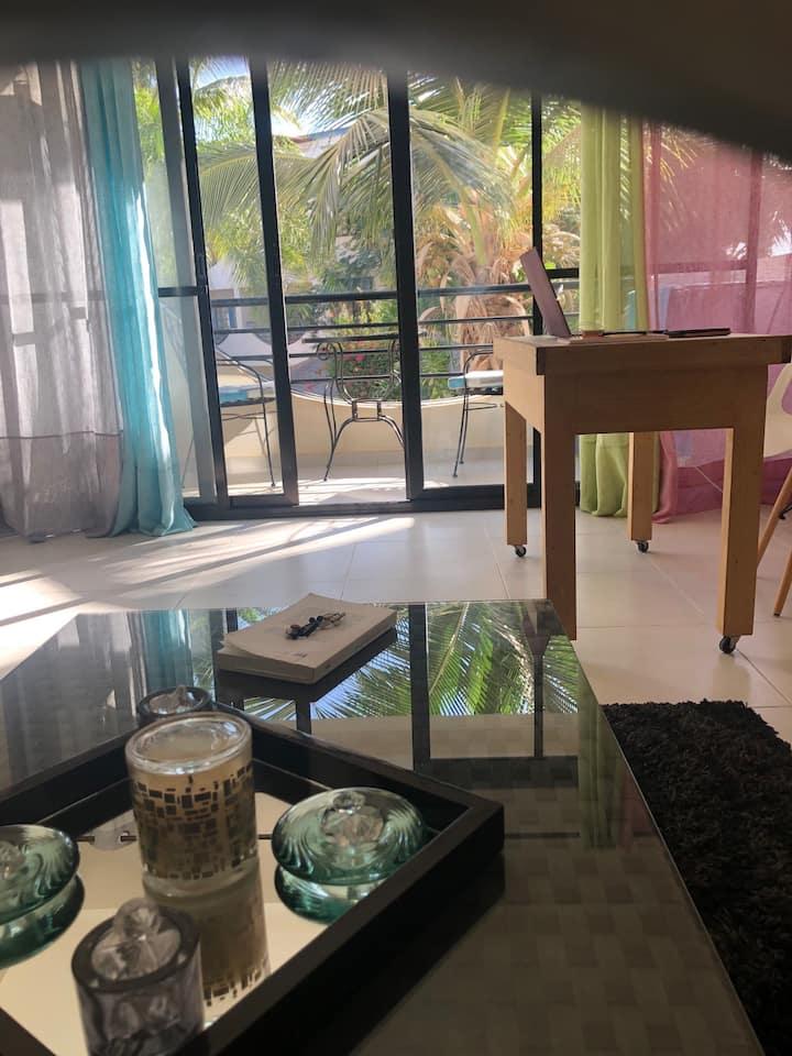 Appartement  neuf  2 chambres 2 sdb vue piscine