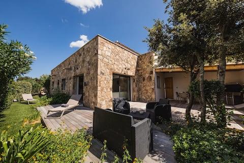 在Casa Alpana立式公寓-私人区域。