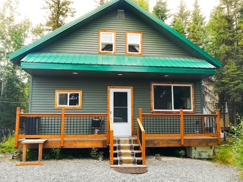Enjoy attractive cabin blocks from Kenai River