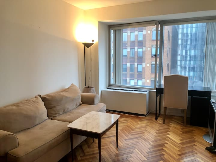 Furnished 1 bedroom next to Central Park, 5th Ave