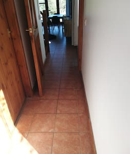 Totally flat ground floor, hard floor and tiles throughout.
