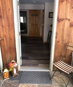 Entryway to guest suite
