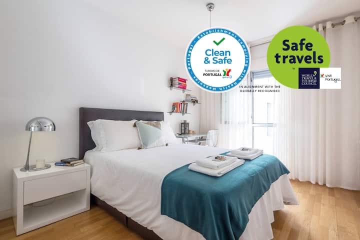 Clean&Safe. Spacious  w/ AC & balcony. Airy&Fresh