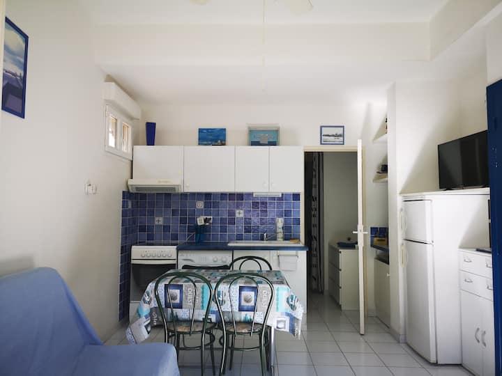 Appartement Rdc Gauche à 1 min à pied de la plage