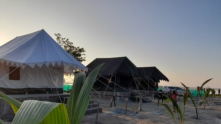 Three Swiss Tent at Chanaka Eco Camp  Pobitora