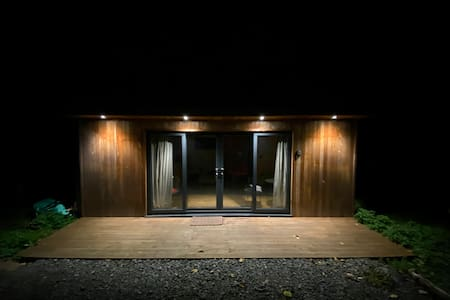External lights make the entry easy at night