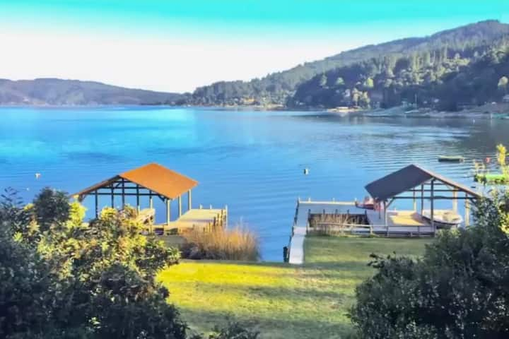 Maravillosa casa en primera línea Lago Vichuquén