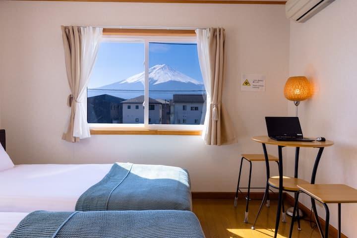 (มีรถรับส่ง) วิวภูเขาไฟฟูจิ! บ้านมาเมซง