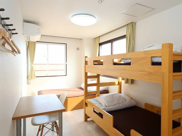 Triple room for LCC users (shared bathroom)