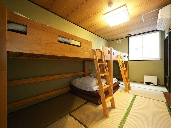 4pax Tatami room for LCC users (with bathroom)
