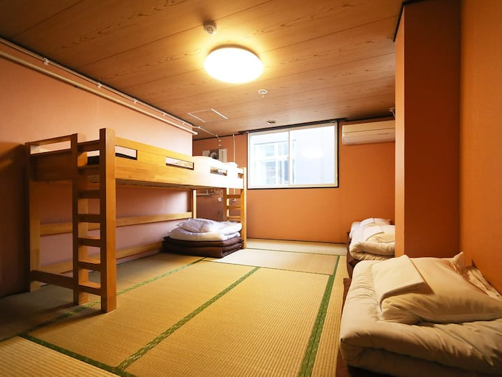 5pax Tatami room for LCC users (with bathroom)