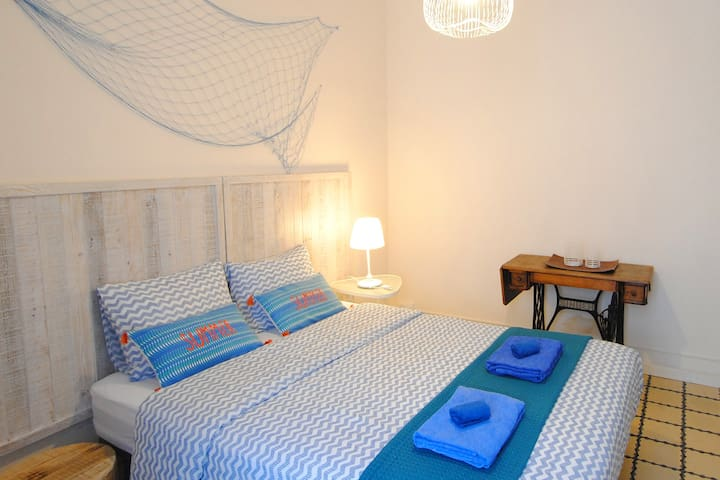 Sunny master bedroom. Double bed with orthopedical and comfortable matress. Enjoy the summer vibes during the whole year round ;-)