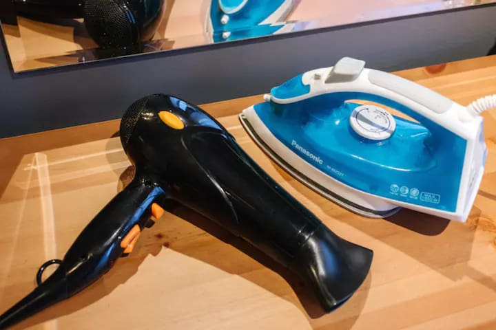 Hair dryer and iron is provided for your easy convenience.