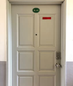 The door is standard size of 2.1m height and 0.9m width
