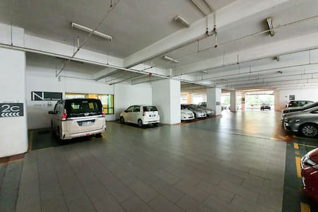 You can park your car in any yellow line carpark inside the parking level within the level 2 ~5.