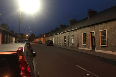 Street-lights outside.
