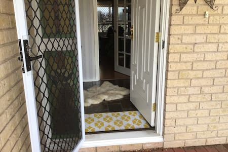 Front door entry with small step