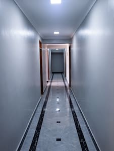 The apartment is on the ground floor of a 4 story flat and therefore easily accessible for wheelchair users and kids.
