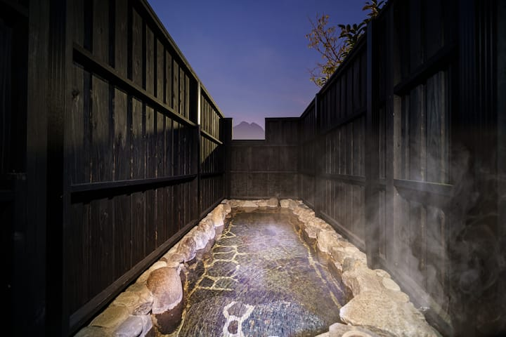 「Iyasshi」Tidy 1 strory house ♨Outdoor Hot spring♨Vew from outdoor hot spring is rilliant ★same price up to 4 ppl★