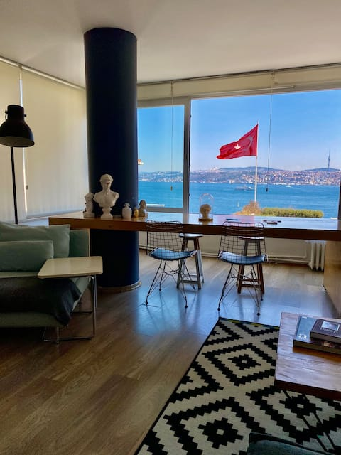 Stylish Flat with Bosphorus View in Downtown