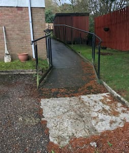 Ramp for wheelchair right round the house