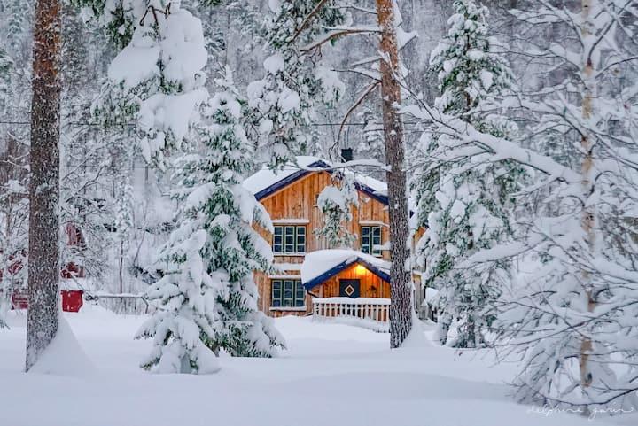 Koselig tømmerhus