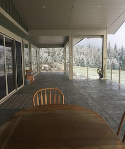Huge covered deck as well