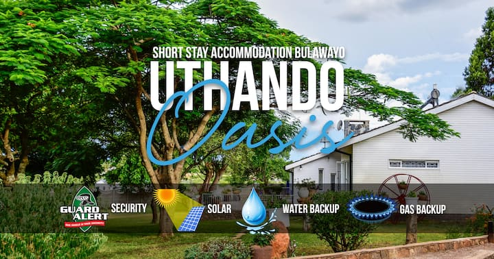 ❤ Uthando Oasis (Inc Solar, Water & Gas Backup)
