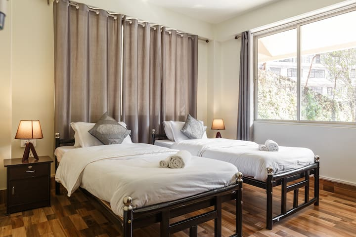 Guest Bedroom, Bedroom 2 - Our Guest Bedroom is well light and spacious.We provide premium hotel standard linen and our rooms are heated