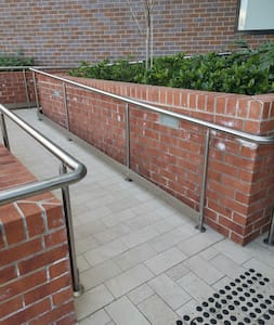 Ramp for wheelchair access and heavy luggage.