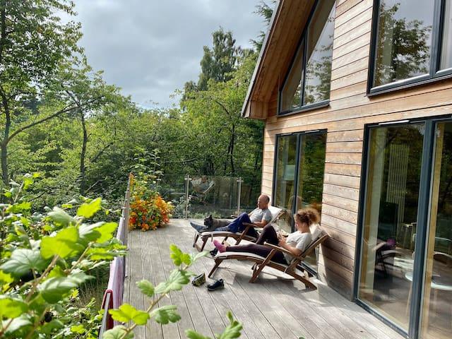 Hot tub, riverside house, An Cala in Nethy Bridge