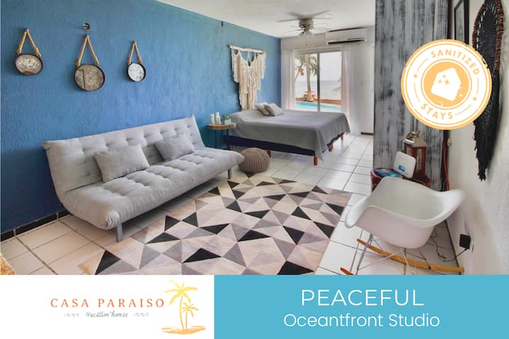 ☆Oceanfront Studio/ shared pool/ WI-FI/ 3 PAX☆