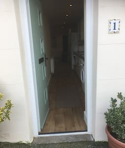 The level entrance to apartment.