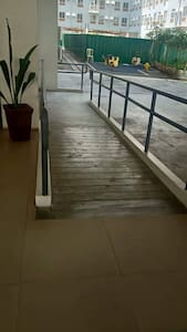 Raymo access from parking area to elevator