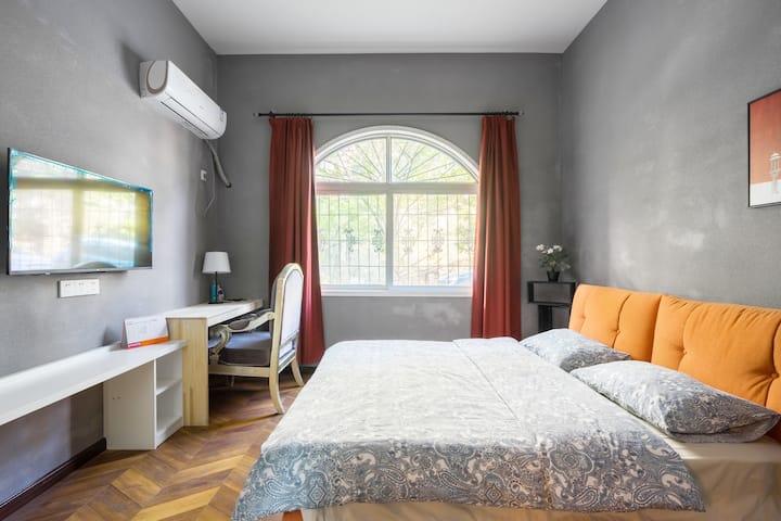 2101 近地大东湖绿道 樱园 别墅带独立洗手间 1.8米大床