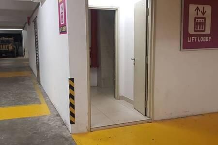 Lobby entrance at car basement parking