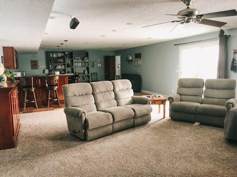 Large private walkout basement apartment