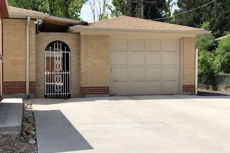 Park in driveway and enter the house through security gate.