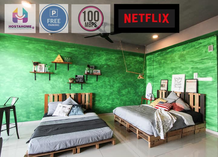 $$ Trendy Studio at Central, I-City with NETFLIX $