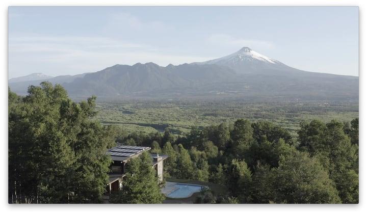 Pucón Magnífica Vista a Lago y volcanes