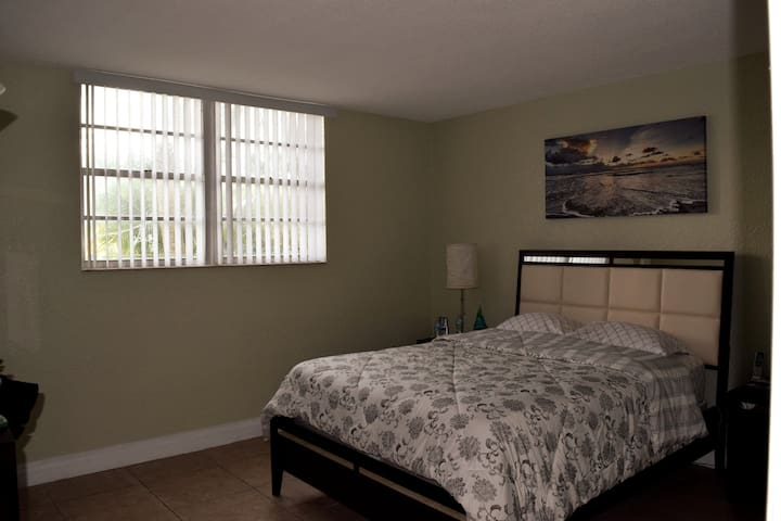 Master bedroom with a comfortable Queen Bed