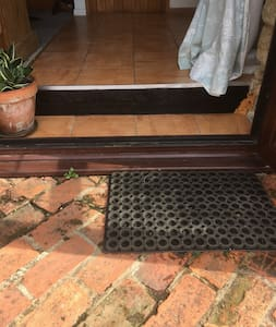 Small step to the entrance