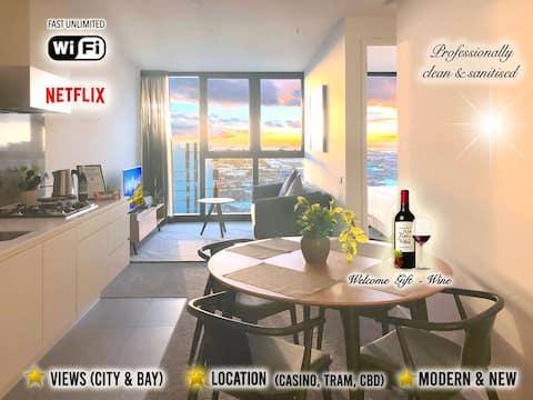 Southbank luxury & comfort+netflix+wifi+wine+views