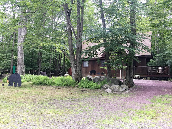 🐻The Poconos Rustic Cozy Bear Chalet Pet Friendly