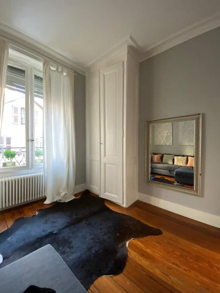 Great Apart Geneva city 5 min walk to Lake / Train