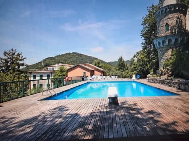 Marina . Sea view Villa with Garden