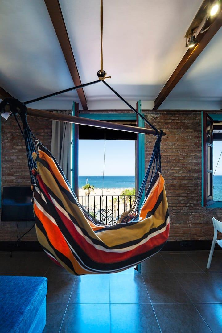 Apartamento en la Playa de Barcelona VISTAS AL MAR