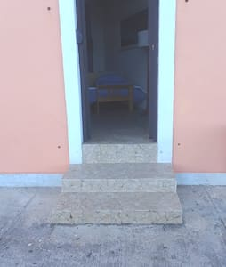 Entrance to the apartment with door open