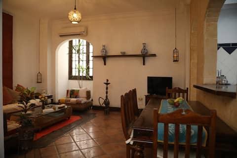 sua aconchegante casa em zamalek perto do rio nilo