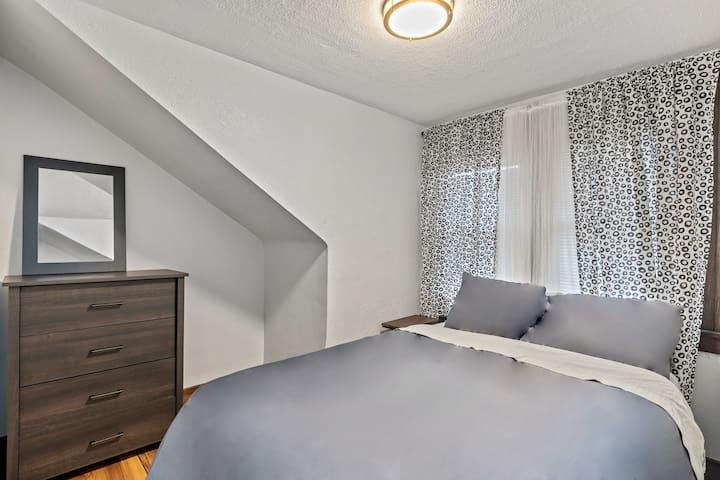 Guest Bedroom on the third floor. Smaller room with a queen bed